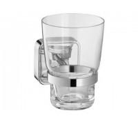 Держатель стакана Keuco SMART в комплекте с хрустальным стаканом хром (02350019000)