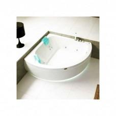 Ванна с г/м Jacuzzi Aquasoul corner 155 TOP с панелью 155x155 смесит подсв дез 2 подг бел/хр (9443-699A)