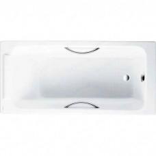 Чугунная ванна Jacob Delafon Parallel 150x70 с отверстиями для ручек (E2949)