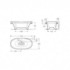 Чугунная ванна Roca New cast 170x85 белая (233650007)