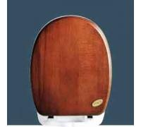 Simas Arcade сиденье для унитаза с мех плав закр орех/хром (AR008)