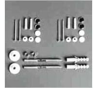 Simas Комплект вертикальных креплений для унитаза/биде хром/бел (F90)