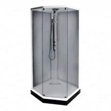 Душевая кабина IDO Showerama 8-5 100x100x220 cм, профиль серебристый, тонированное стекло (4985113010)