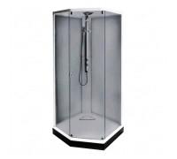 Душевая кабина IDO Showerama 8-5 100x100x220 cм, профиль белый, тонированное стекло (4985123010)