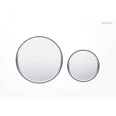 Клавиша Geberit Sigma 20 двойной смыв (115.882.KL.1) белый / хром матовый