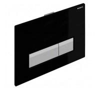 Клавиша смыва Geberit Sigma 40 черное стекло/аллюминий (115.600.SJ.1)