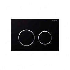 Клавиша Geberit Omega 20 двойной смыв (115.085.KM.1) черный / хром глянцевый