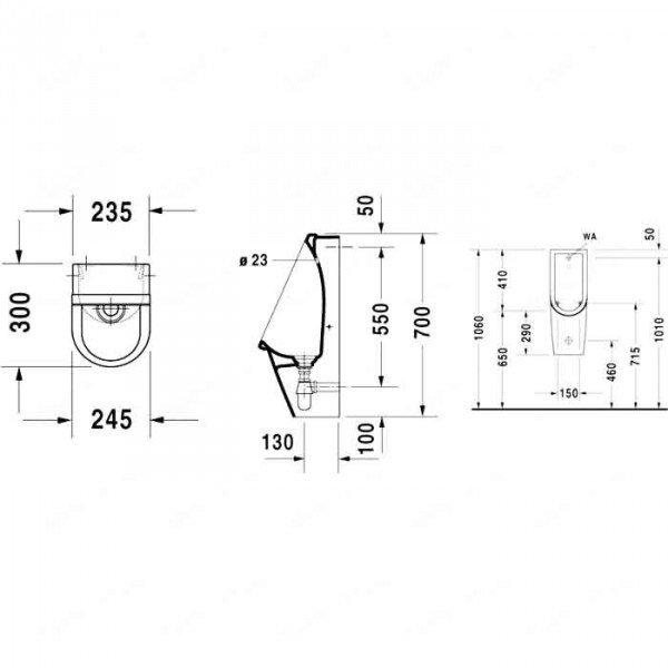 duravit starck 3 082725. Black Bedroom Furniture Sets. Home Design Ideas