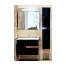 Зеркальный шкаф Roca Victoria nord black edition 80 см (ZRU9000100)