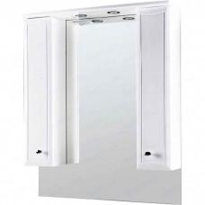 Зеркальный шкаф Am.Pm Bourgeois частично с подсветкой 85 см белый глянец (M65MPX0851WG)