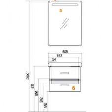 Зеркальный шкаф Акватон Америна 60 петли справа, белый (1A135302AM01R)