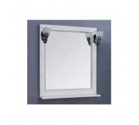 Зеркало для ванной Акватон Жерона 85 полка, белое серебро (1A158702GEM20)